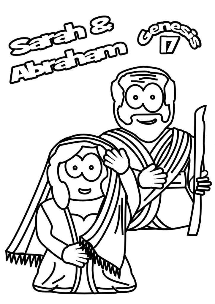 Sarah And Abraham Genesis Coloring Pages