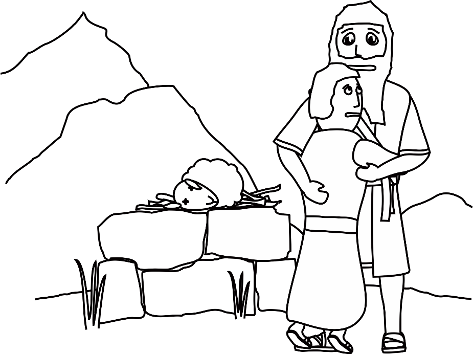 Simple Abraham And Sarah Coloring Pages