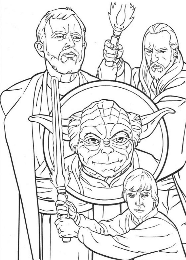 Star Wars Characters Luke Skywalker Coloring Pages
