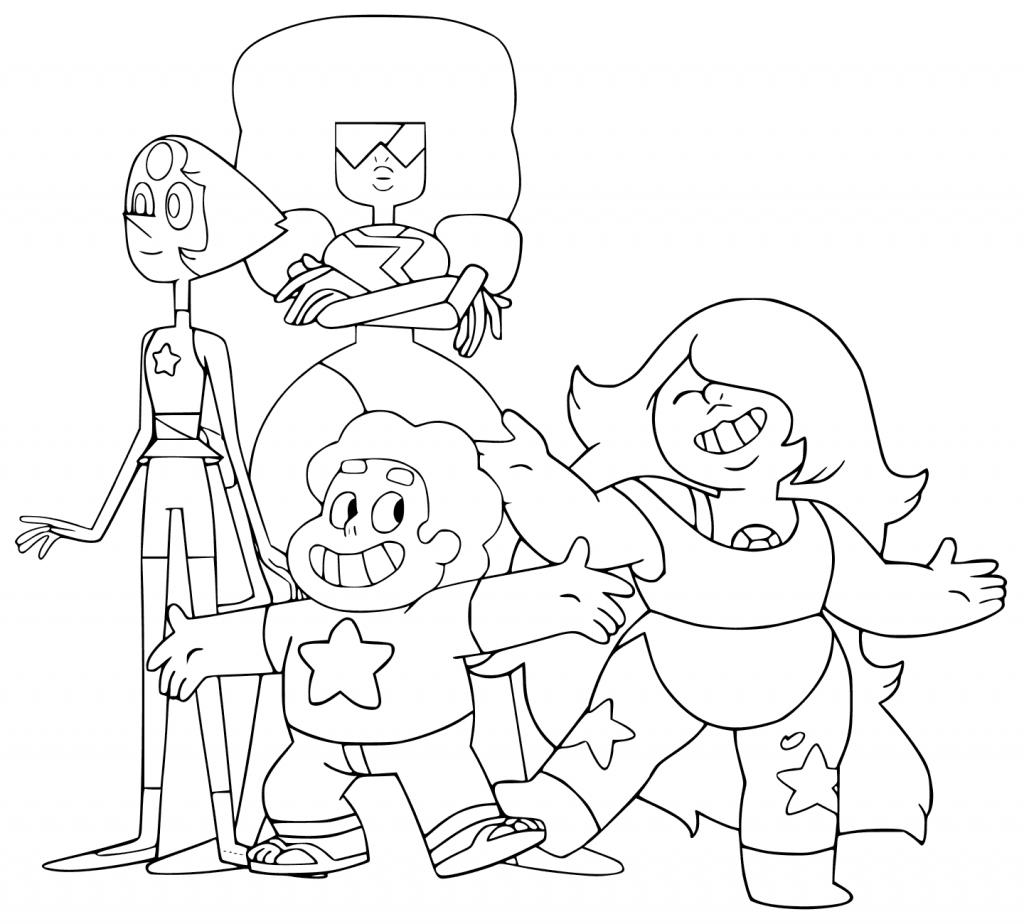 Steven Universe Printable Coloring Page