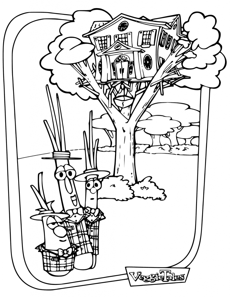 Veggie Tales Treehouse Coloring Page