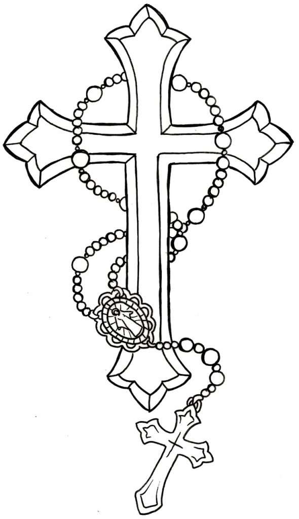 Beautiful Rosary Coloring Page