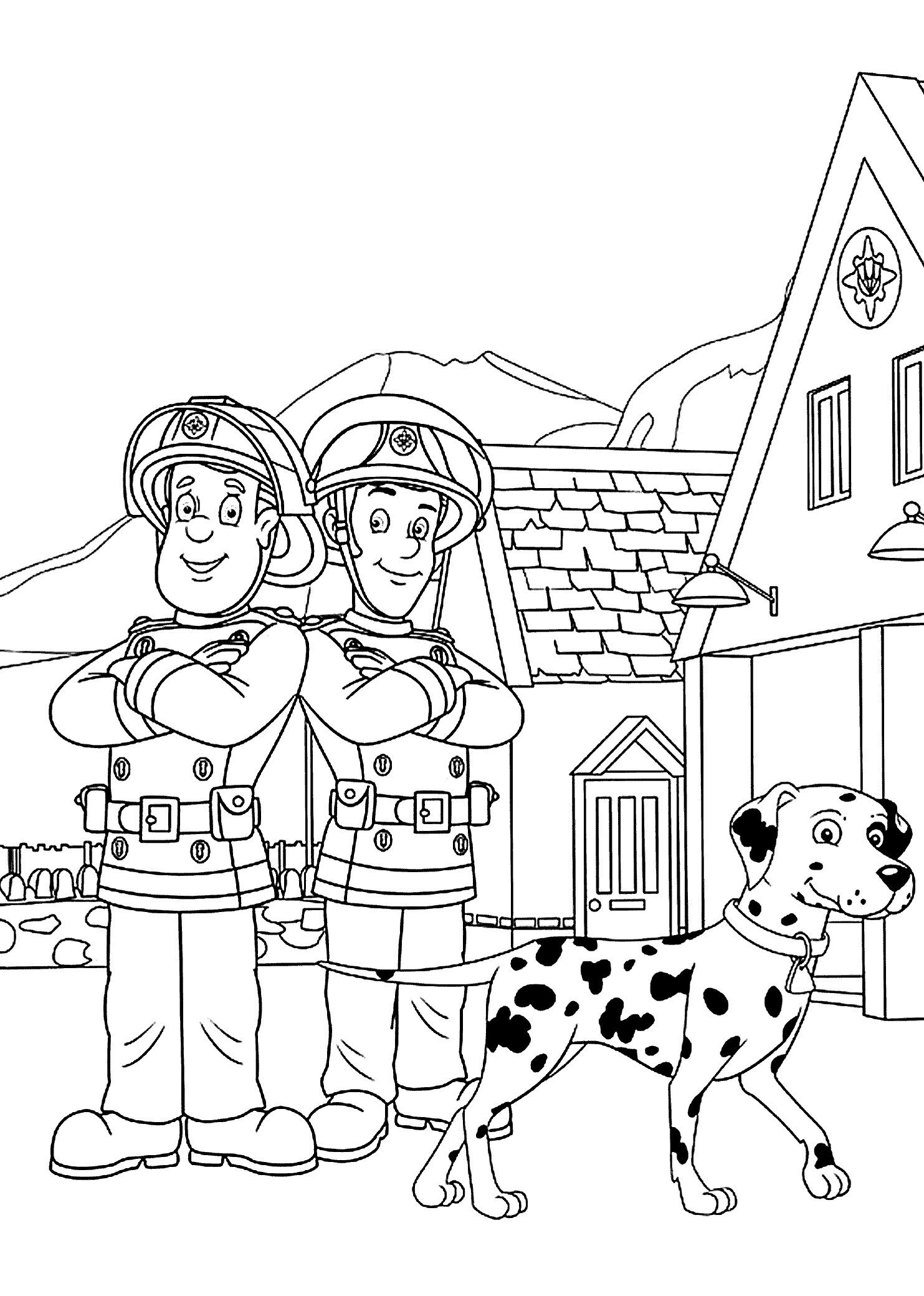 Fireman Sam coloring pages on Coloring-Book.info | 2079x1483