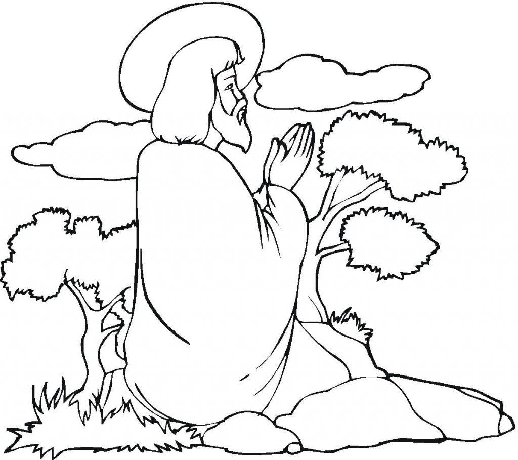 Lord Praying Coloring Page