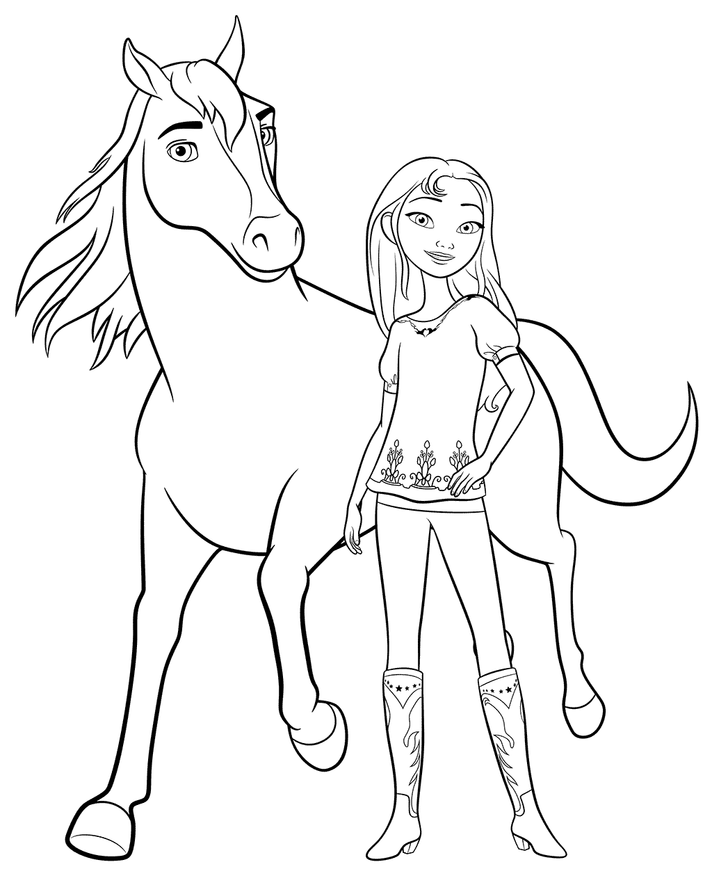 Spirit Riding Free Coloring Pages Best Coloring Pages For Kids