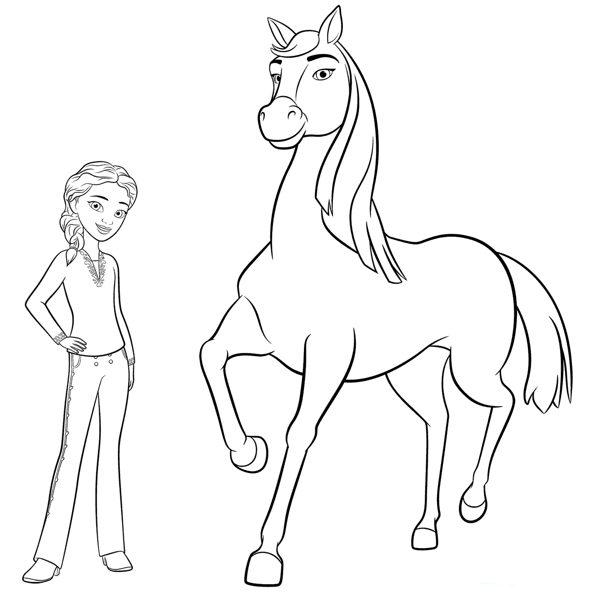 Disney Spirit Horse Coloring Pages | Horse coloring books, Horse ... | 1200x1200