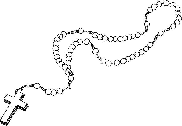 Rosary Cross Coloring Page