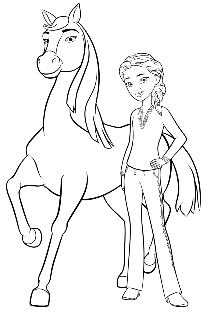 spirit riding free coloring pages - best coloring pages