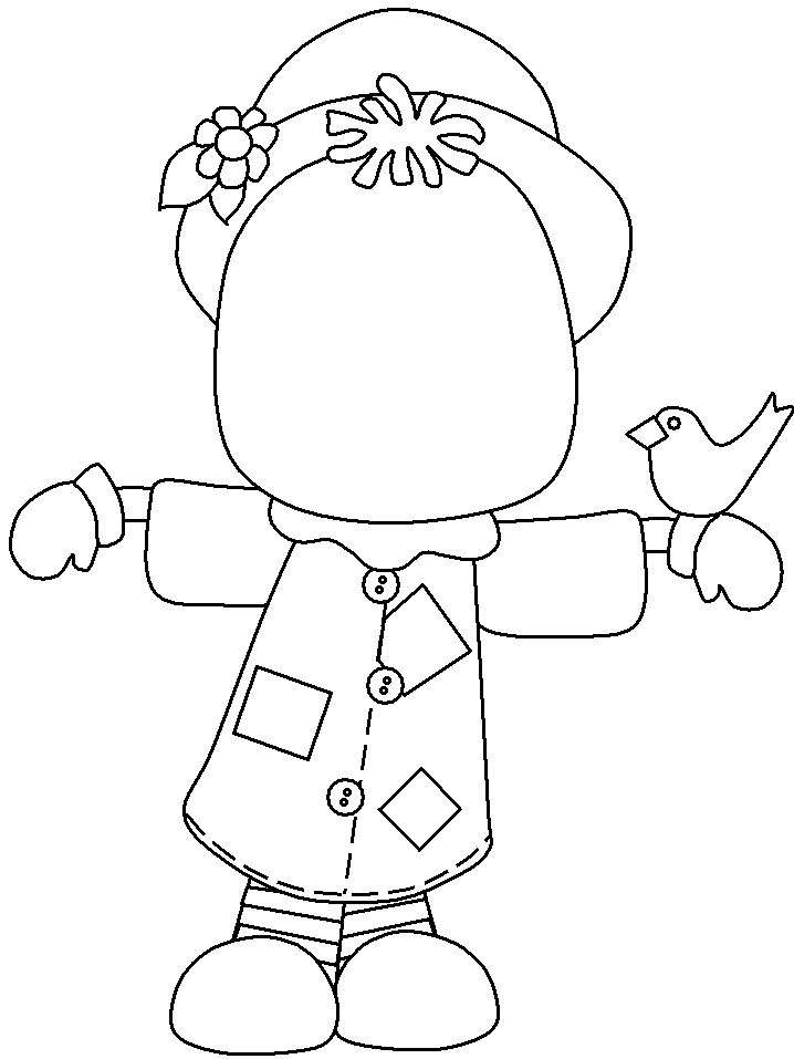 Blank Scarecrow Coloring Page