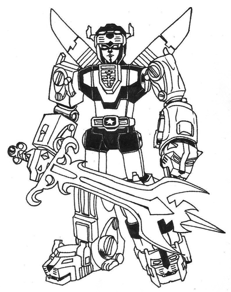 Cool Voltron Coloring Pages