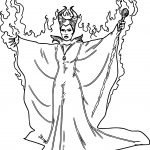 Fiery Maleficent Coloring Pages