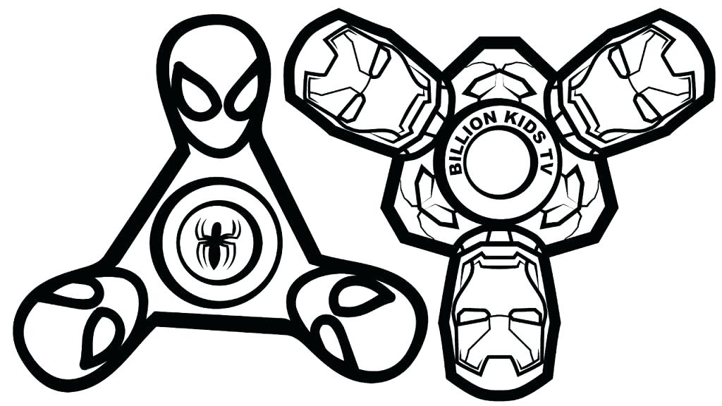 Fun Fidget Spinners Coloring Page