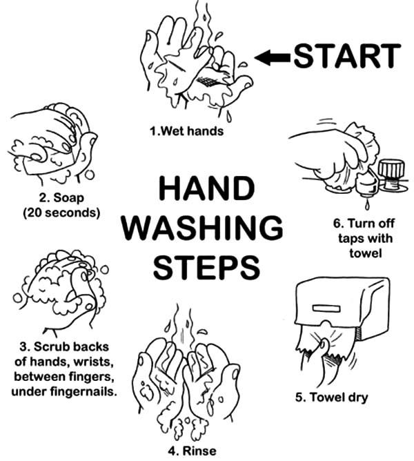 Hand Washing Steps Printable