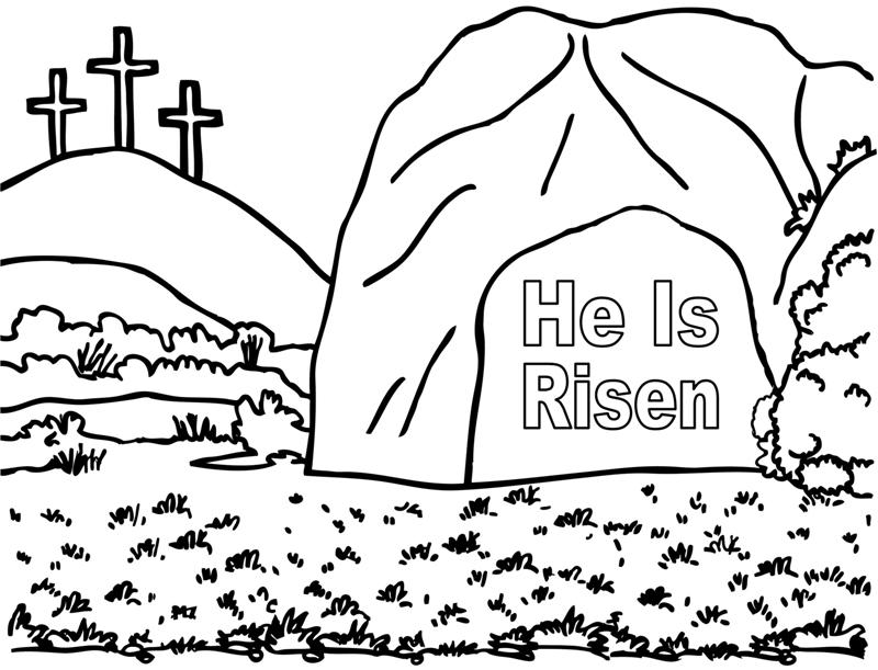 He Is Risen Jesus Coloring Page