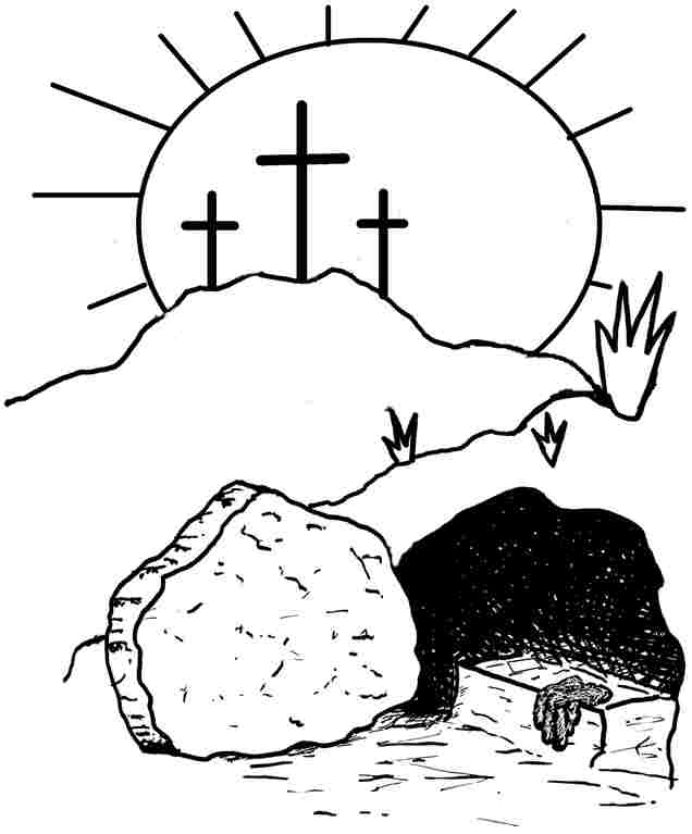 Jesus Burial Site Resurrection Coloring Page