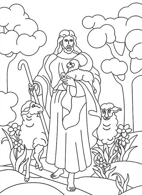 Jesus And Lambs Resurrection Coloring Pages
