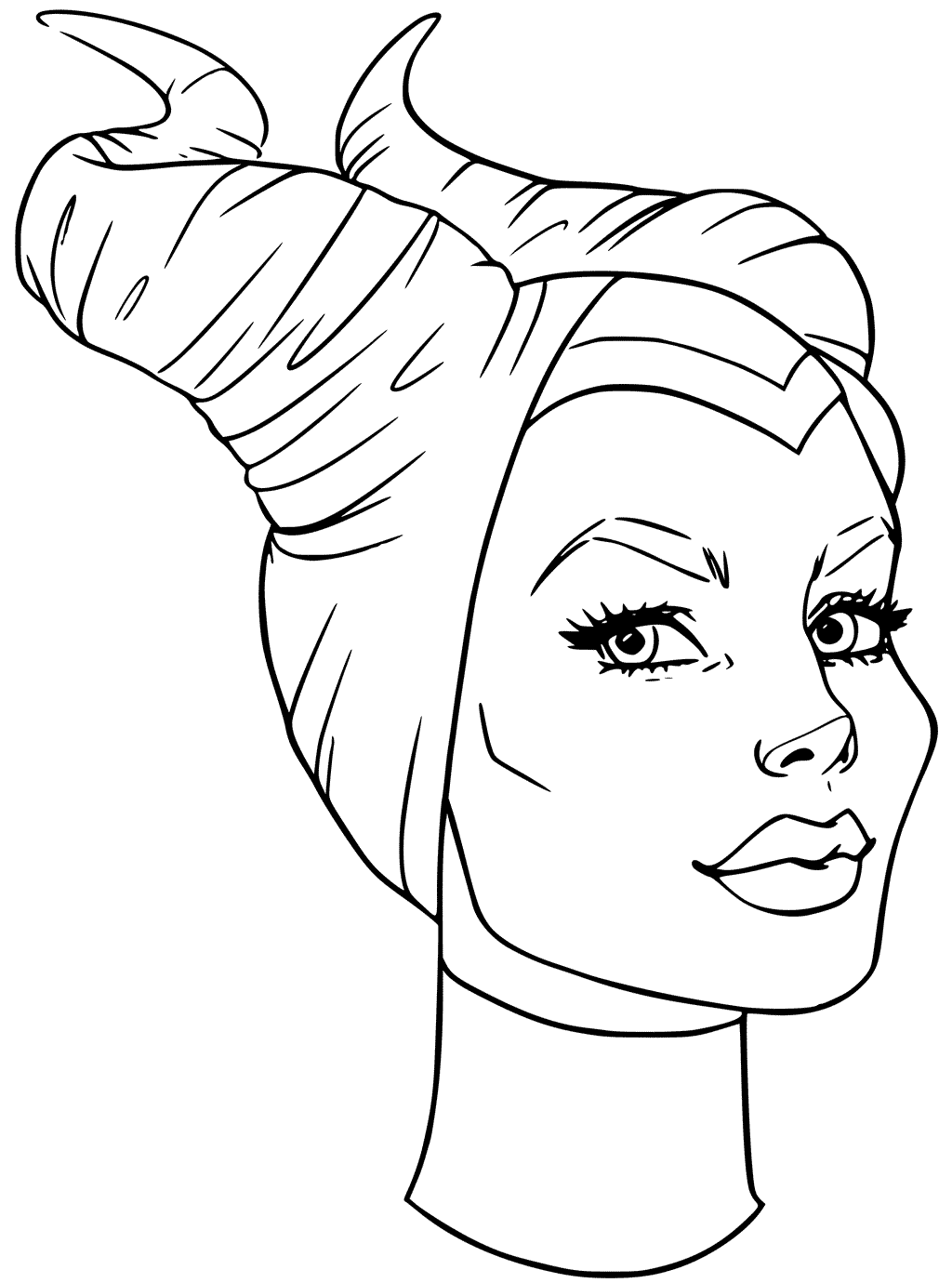 Download Maleficent Coloring Page