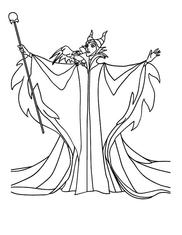 Maleficent Printable Coloring Pages