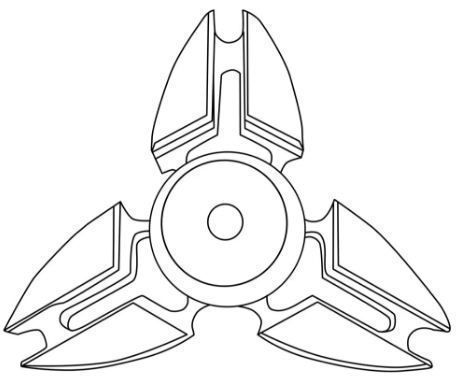 Pointed Fidget Spinner Coloring Page