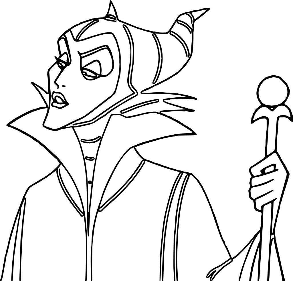 Print Maleficent Coloring Pages