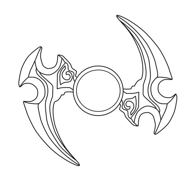 Spinner Blade Coloring Page