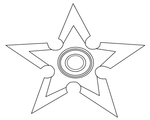 Star Spinner Coloring Page
