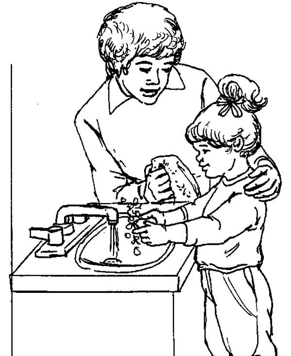 Teach Good Hygiene Coloring Page