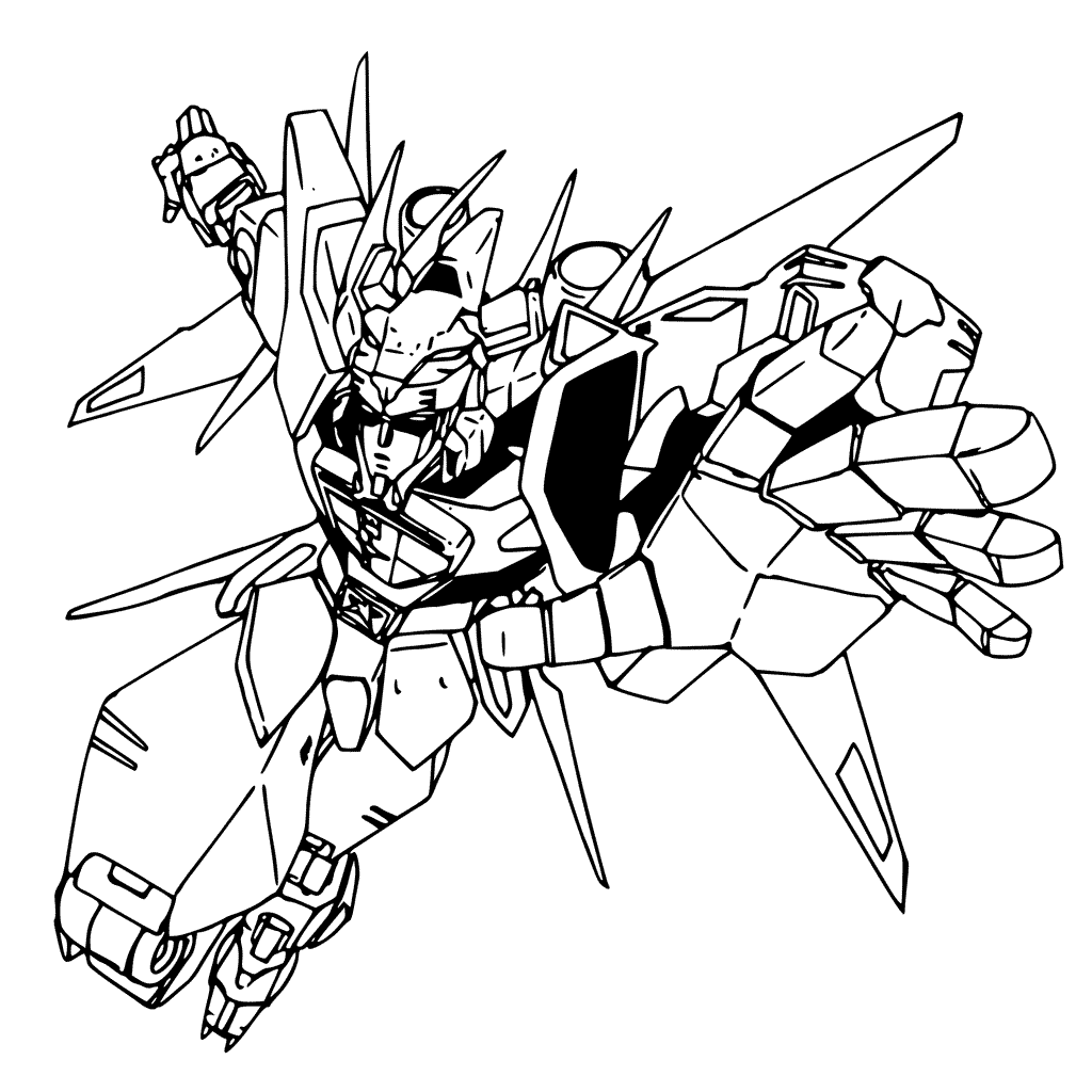 Voltron Action Coloring Pages