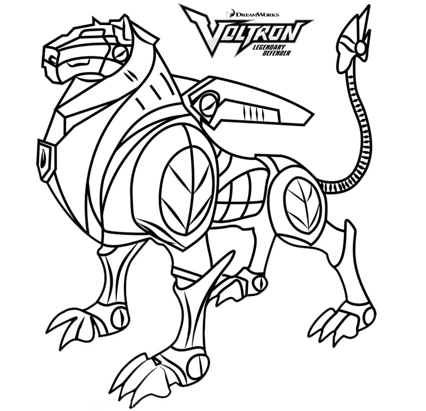 Voltron Black Lion Coloring Pages