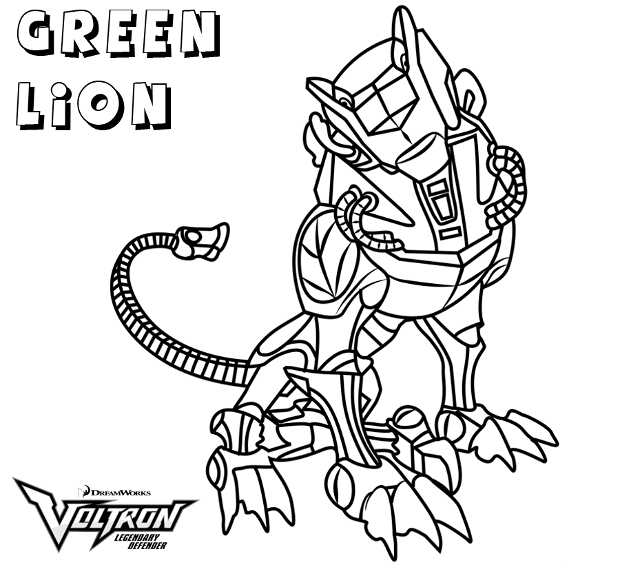 Voltron Green Lion Coloring Pages