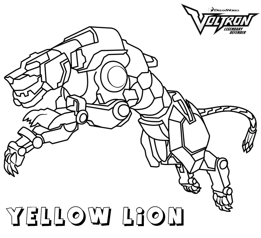 Voltron Yellow Lion Coloring Pages