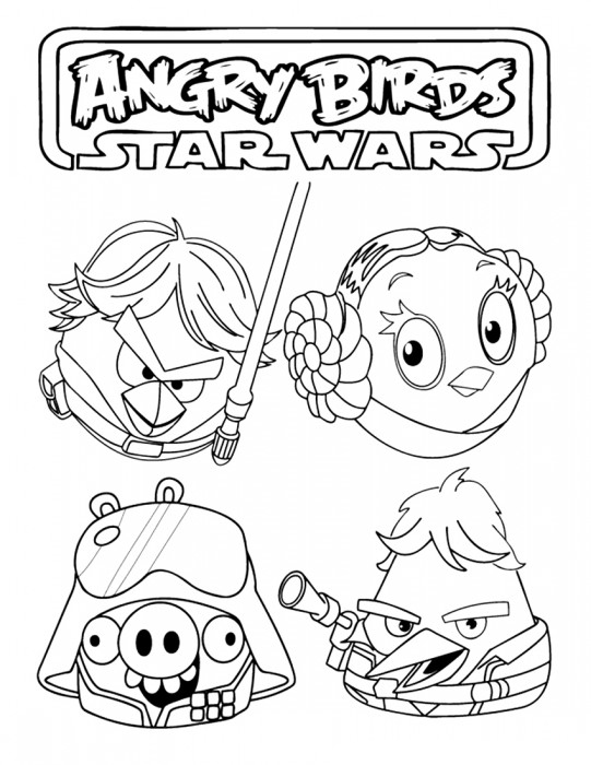 Angry Birds Star Wars Coloring Pages ~ Free Printable Coloring ... | 700x541