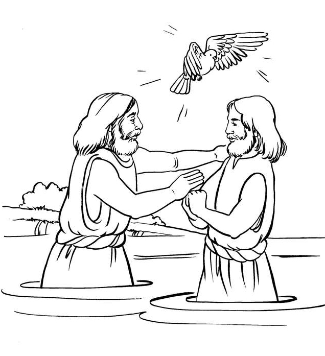 Baptism Bible Coloring Pages