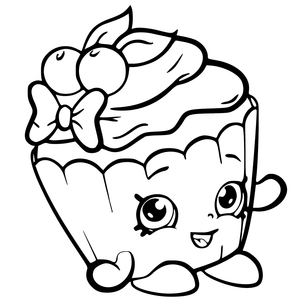 Cherry Cake Shopkins Coloring Page