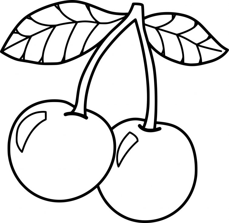 Cherry Food Coloring Page