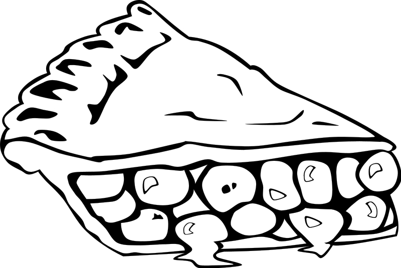 Cherry Pie Coloring Page