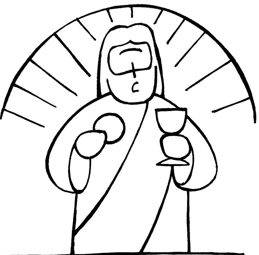 Christs Communion Coloring Pages