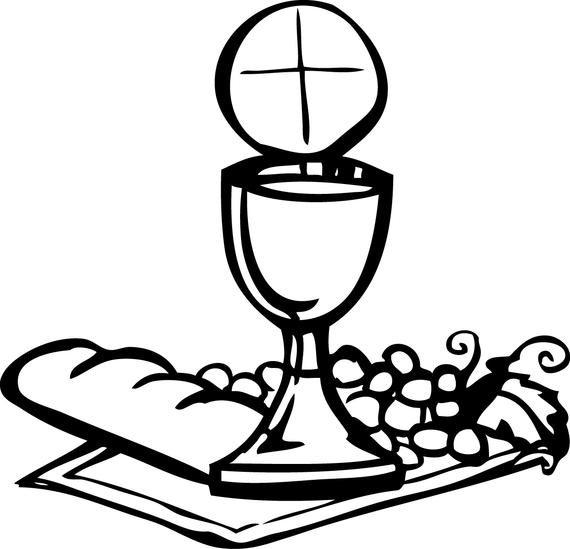 Communion Printable Coloring Pages