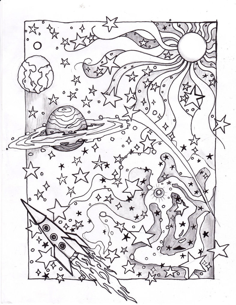 Cosmic Saturn Coloring Pages