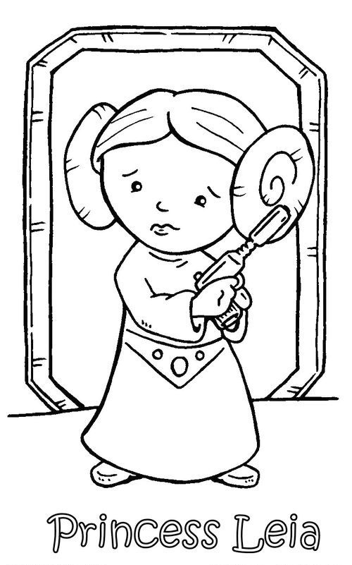 princess leia star wars coloring pages