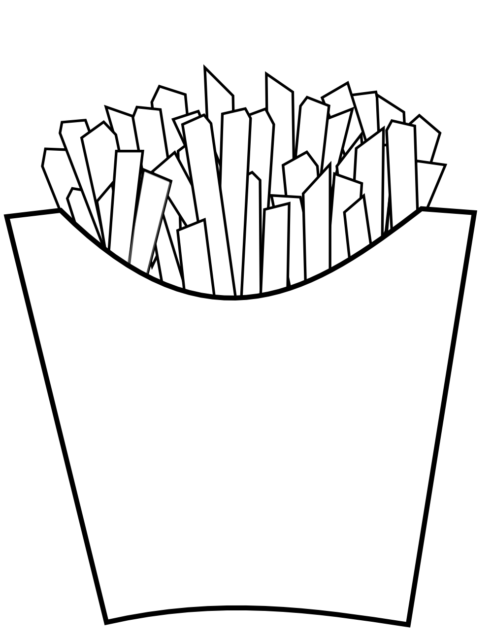 Easy French Fries Coloring Pages