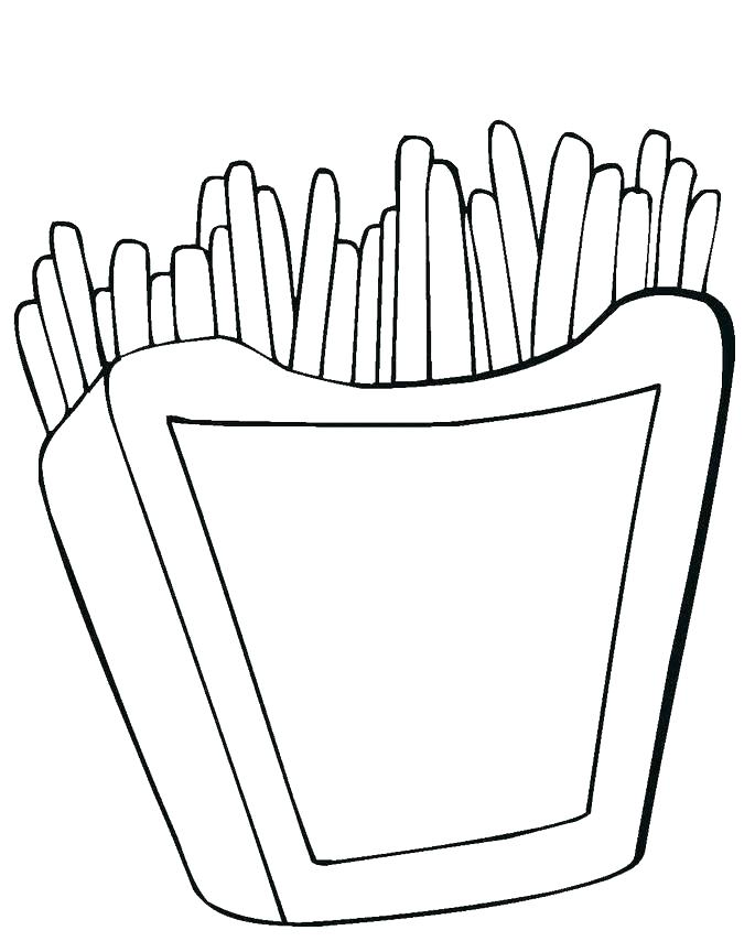 French Fries Printable Coloring Page