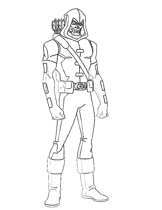 Green Arrow Coloring Pages