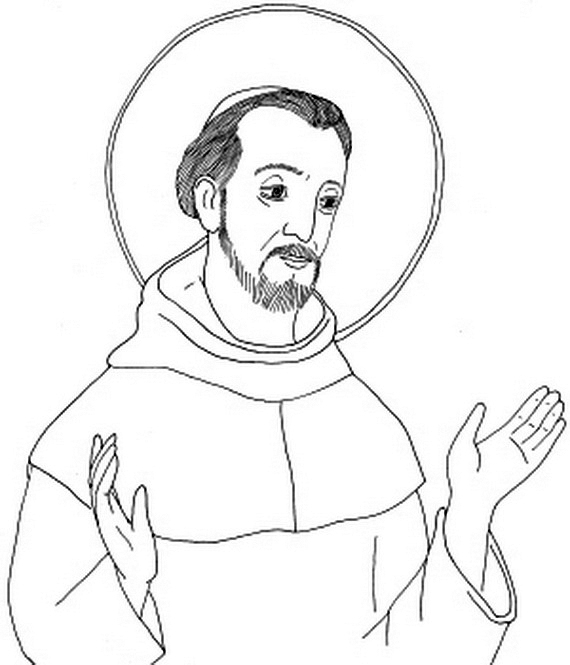 Holy St Francis Coloring Page