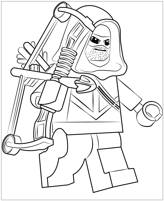 Lego Green Arrow Coloring Pages