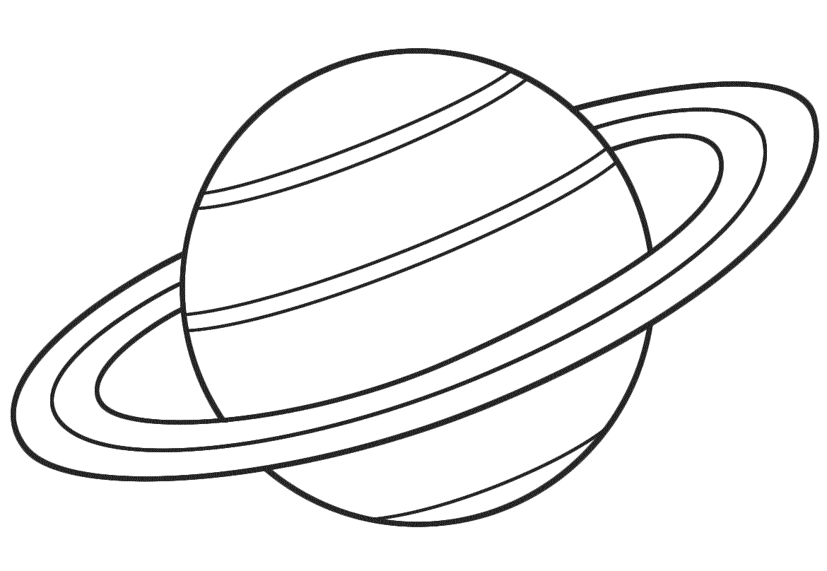 Rings Of Saturn Coloring Page