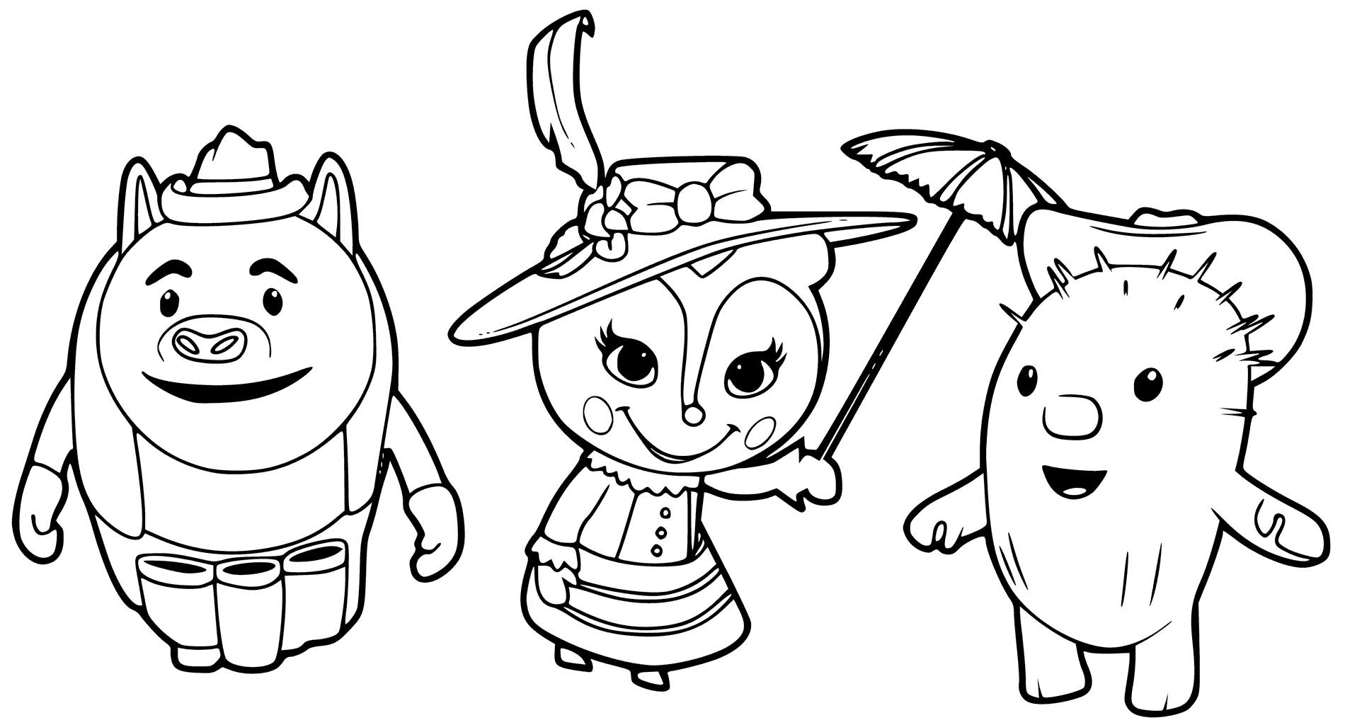 Sheriff Callie Characters Coloring Page