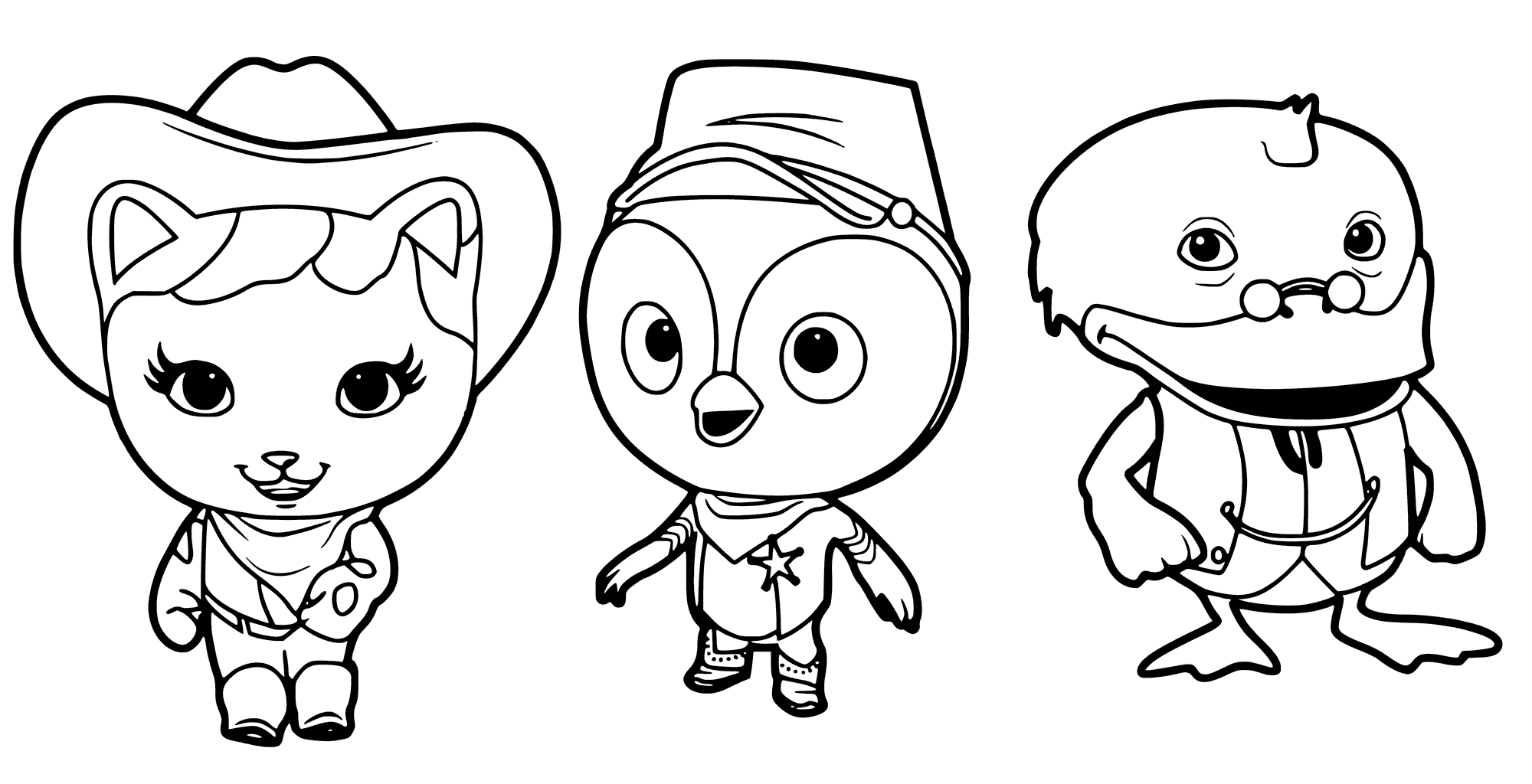 Sheriff Callie Characters Coloring Pages