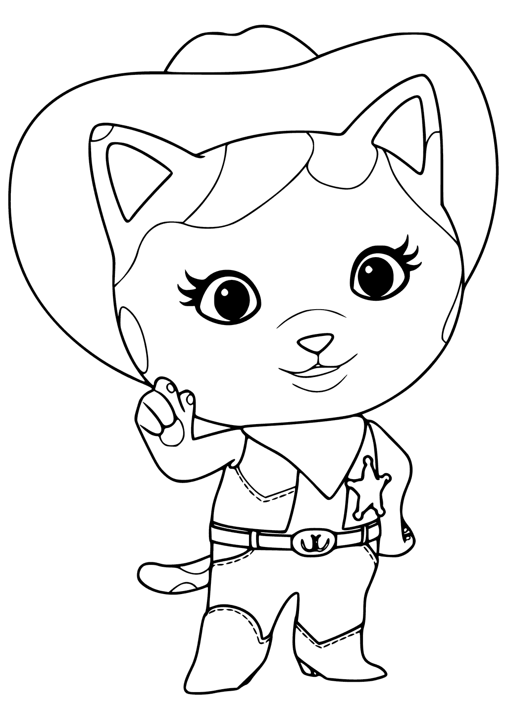 Sheriff Callie Coloring Page