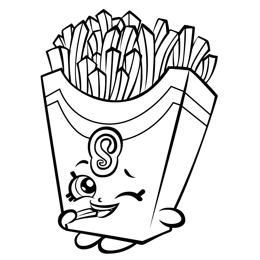 Shopkins French Fries Coloring Page